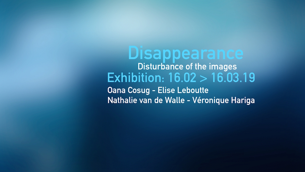 Exposition Disappearance - Du 16 au 29.03 2019